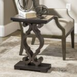 uttermost accent furniture parina ebony table corner products color blythe furnitureparina mirrored hall trestle bench legs essential living room natural cherry low coffee west 150x150