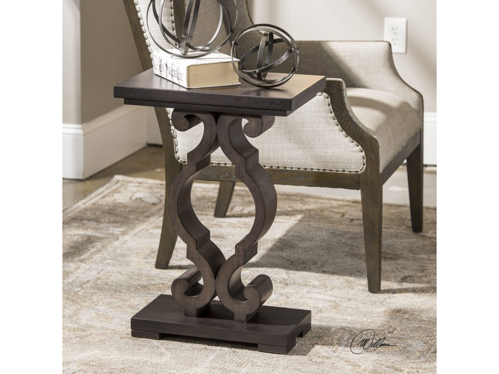 uttermost accent furniture parina ebony table corner products color blythe furnitureparina mirrored hall trestle bench legs essential living room natural cherry low coffee west