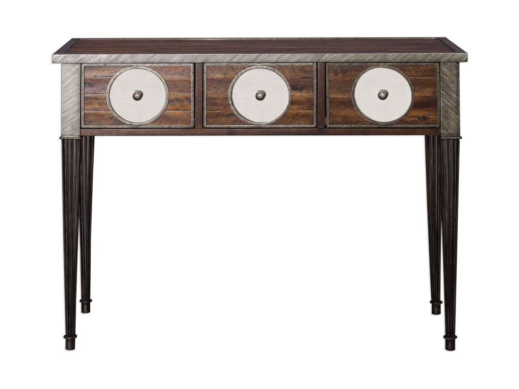 uttermost accent furniture patten distressed walnut console products color dice table furniturepatten room essentials queen comforter glass mid century leather sofa copper lamp