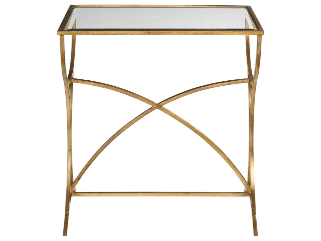 uttermost accent furniture sarette antiqued gold table products color threshold furnituresarette champagne mirrored nautical bedroom ideas chairside with drawers burke kirklands