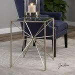 uttermost accent furniture silvana silver side table miskelly products color stratford wicker folding bronze furnituresilvana half moon glass storage cupboards with doors antique 150x150