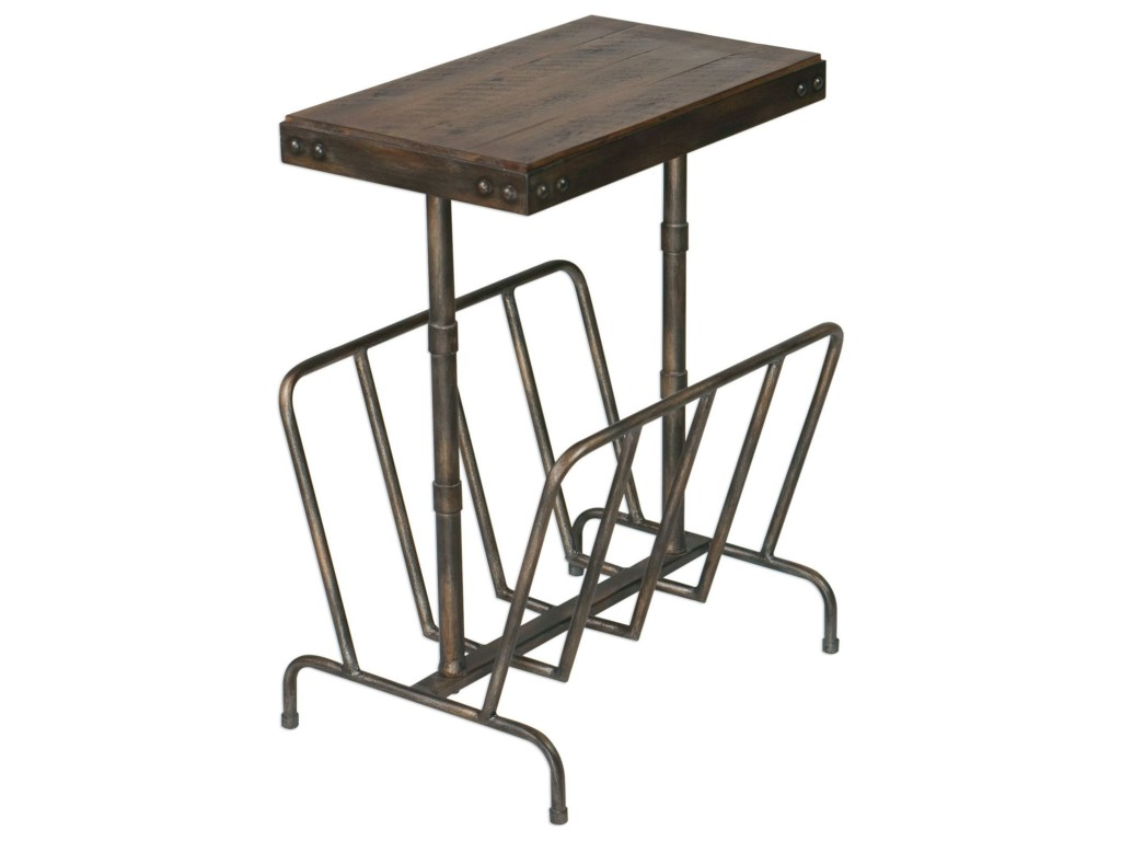 uttermost accent furniture sonora industrial magazine side table products color tables furnituresonora drop leaf folding half moon ikea pier imports lamps black kitchen and chairs