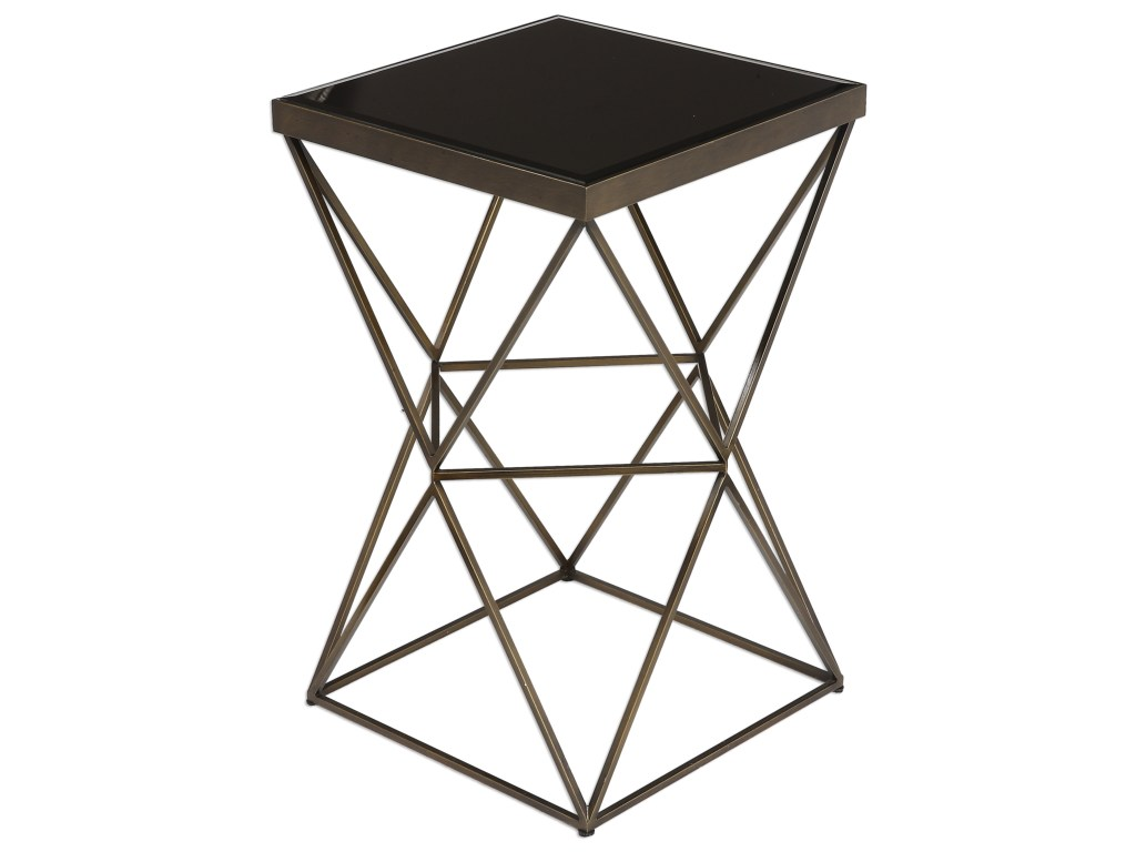 uttermost accent furniture uberto caged frame table products color laton mirrored furnitureuberto barnwood bar silver trunk coffee made usa target desks and chairs builders