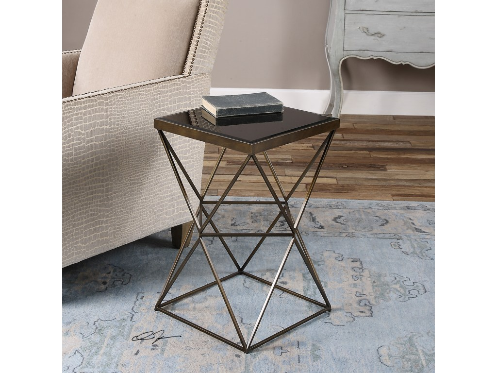 uttermost accent furniture uberto caged frame table products color stratford wicker folding bronze furnitureuberto target rocking chair teal blue side round with drawer standing