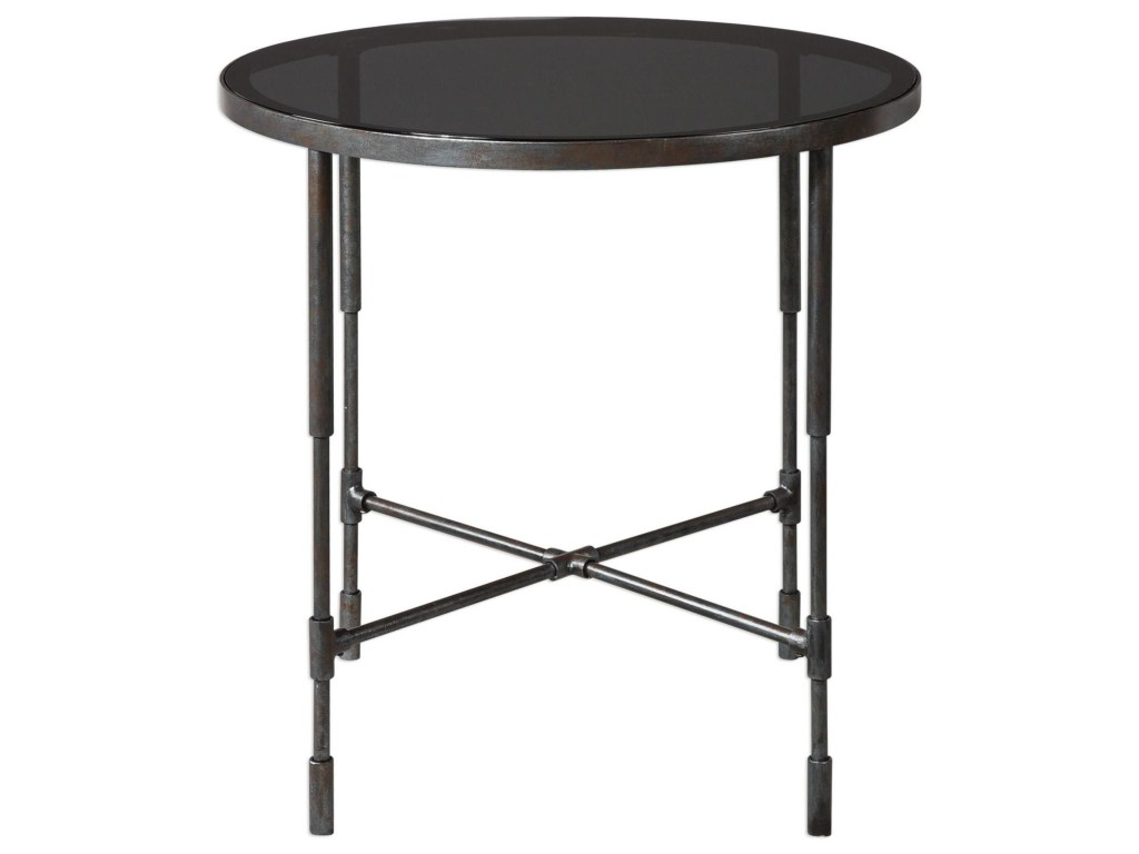 uttermost accent furniture vande aged steel table products color jinan furniturevande inch high pub pier one patio ikea storage dining set colorful tables door cabinet modern