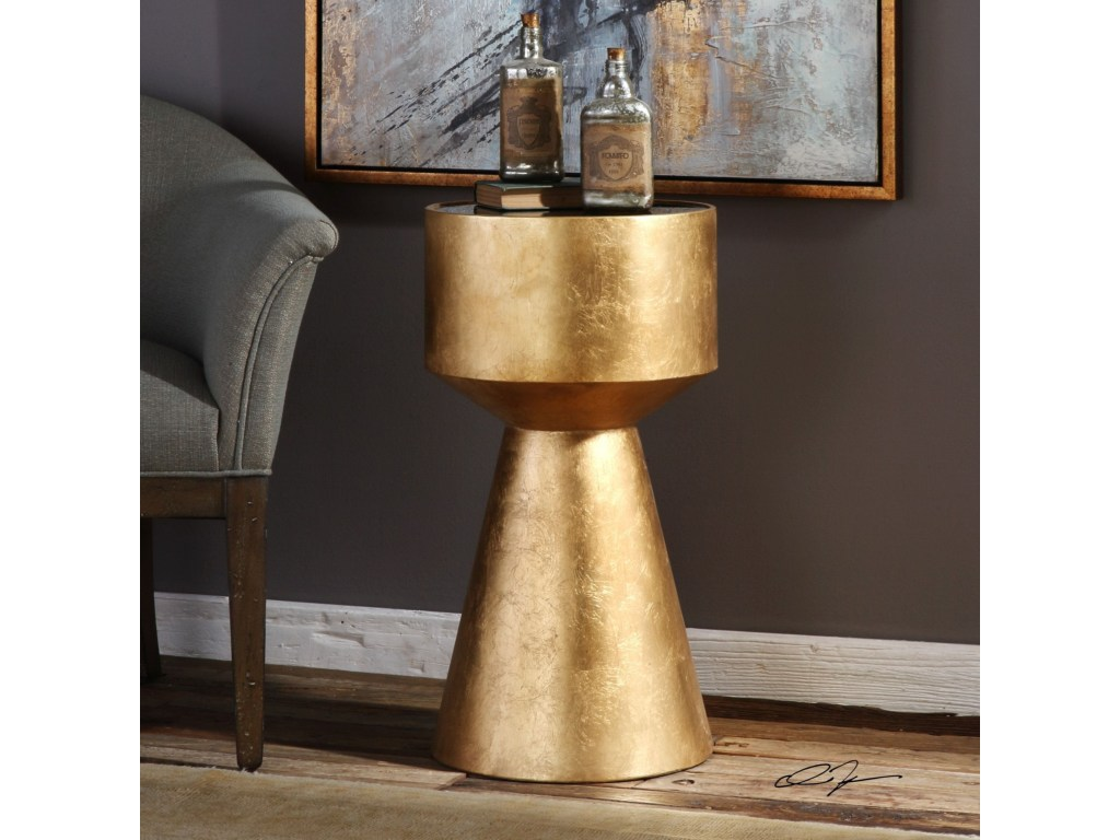 uttermost accent furniture veira gold table miller products color montrez furnitureveira home ornaments round oak dining door threshold seal storage drum tiffany lighting direct