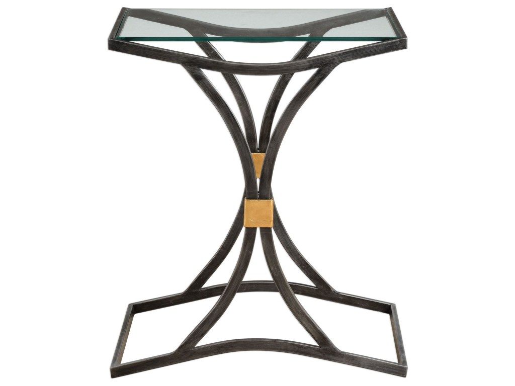 uttermost accent furniture verino arched iron table products color laton mirrored furnitureverino silver trunk coffee black marble dining room builders lighting made usa