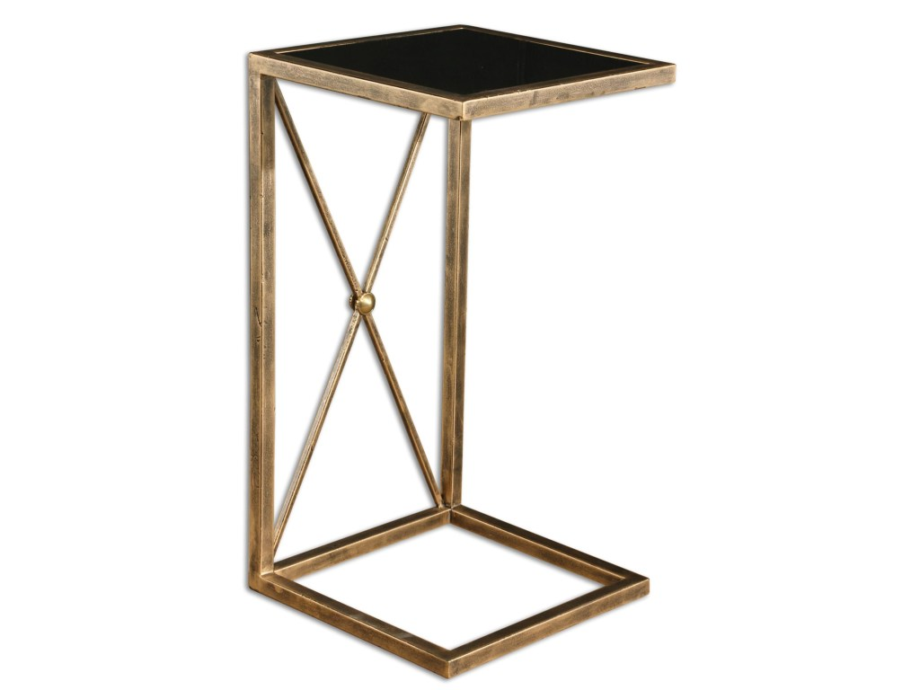 uttermost accent furniture zafina gold side table hudson products color martel furniturezafina round bronze waterproof patio chair covers outdoor dining with umbrella pair lamps