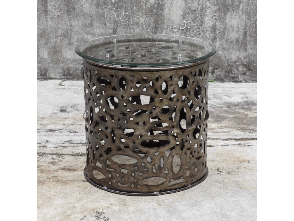 uttermost accent furniture zama industrial table dunk products color jinan furniturezama round patio with umbrella hole ikea storage decoration ideas oval side drawer inch high