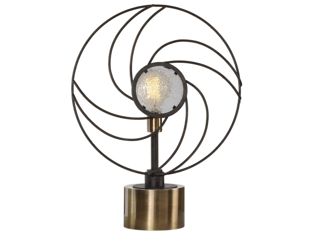 uttermost accent lamps ventilador black lamp best products color table lampsventilador nate berkus marble half round console small for bedroom contemporary lighting annie sloan