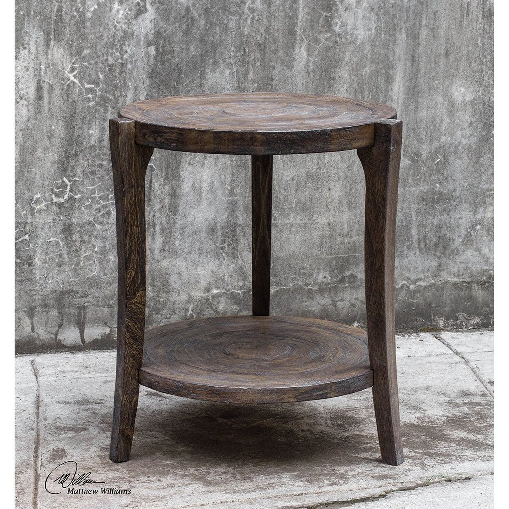 uttermost accent table smoked java rustic pias benjamin rugs gray farm style dining room pieces piece nesting set high chairs narrow small entry round farmhouse bunnings outdoor
