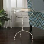 uttermost accent tables bright silver leaf cast iron benjamin table halcion ikea black cube storage gold metal console west elm outdoor round nest small white patio side grey lamp 150x150
