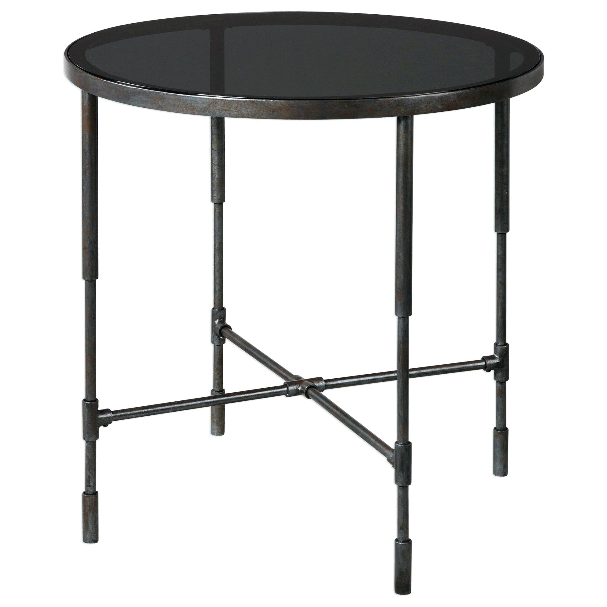 uttermost accent tables soulshine info furniture aged steel table kitchen island ideas dice kids nic wicker storage baskets make your own barn door hardware wine bar end