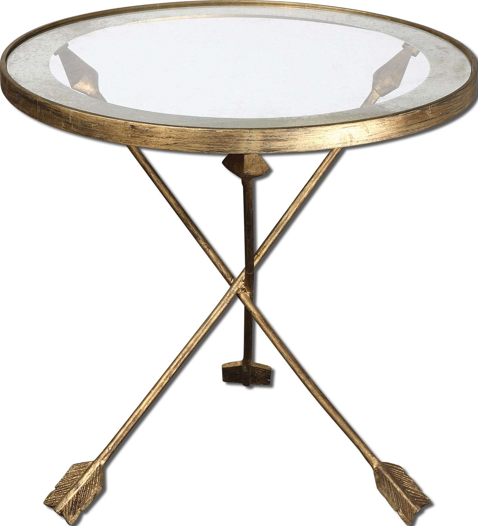uttermost aero antique gold accent table with glass top reviews main expandable dining half cordless led lights small concrete leather sectional edmonton martha stewart outdoor
