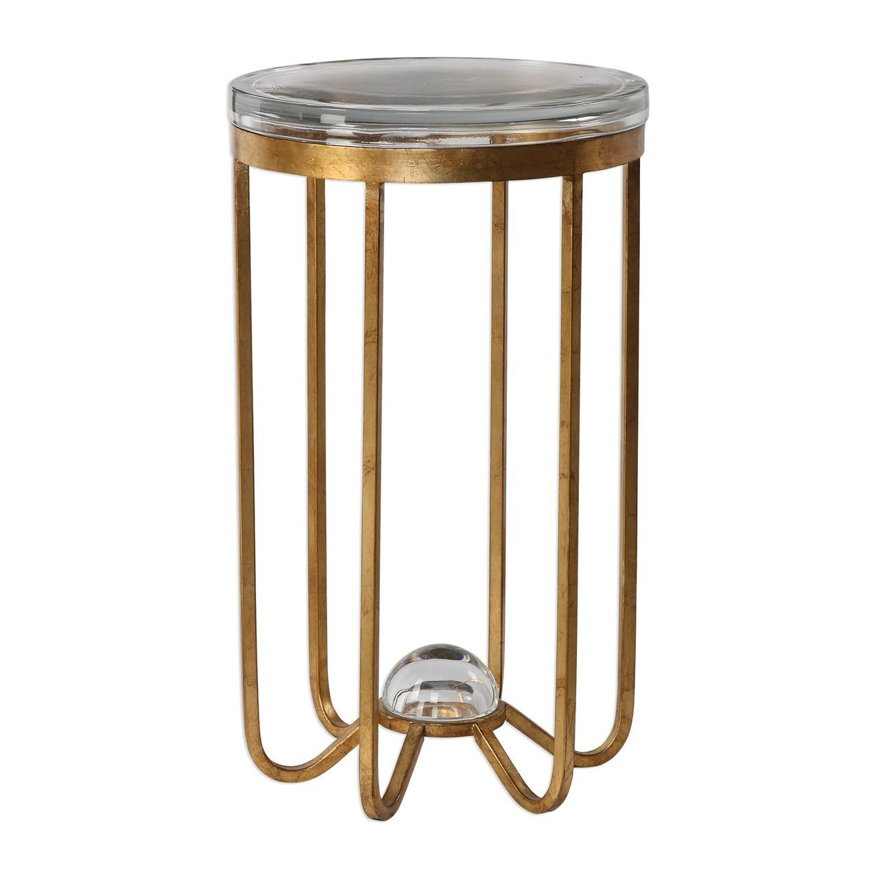 uttermost allura gold accent table isabelleslighting montrez inch tablecloth drum rack round fitted vinyl ashley rocker recliner making coffee farm dining with bench dale tiffany