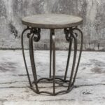 uttermost anina hammered iron accent table interiors martel outdoor dining with umbrella small marble and chairs skinny end ikea inexpensive patio furniture hole mission style oak 150x150