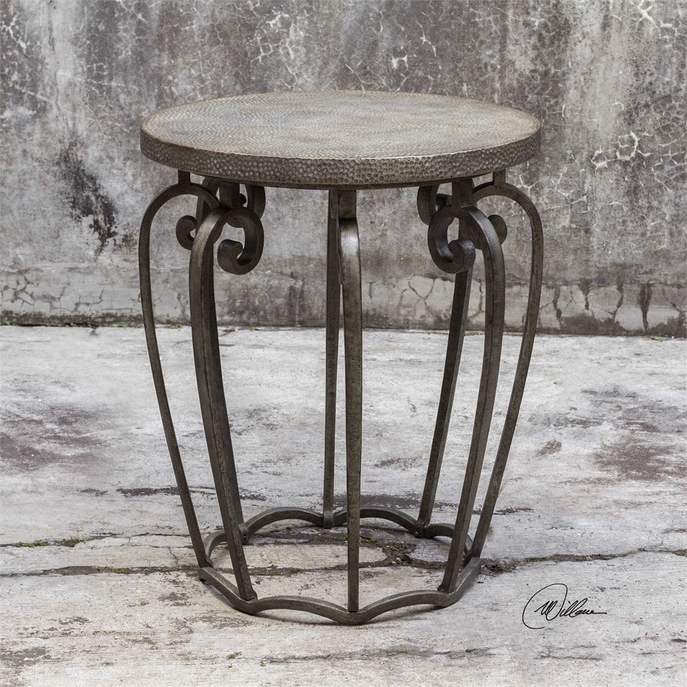 uttermost anina hammered iron accent table interiors martel outdoor dining with umbrella small marble and chairs skinny end ikea inexpensive patio furniture hole mission style oak