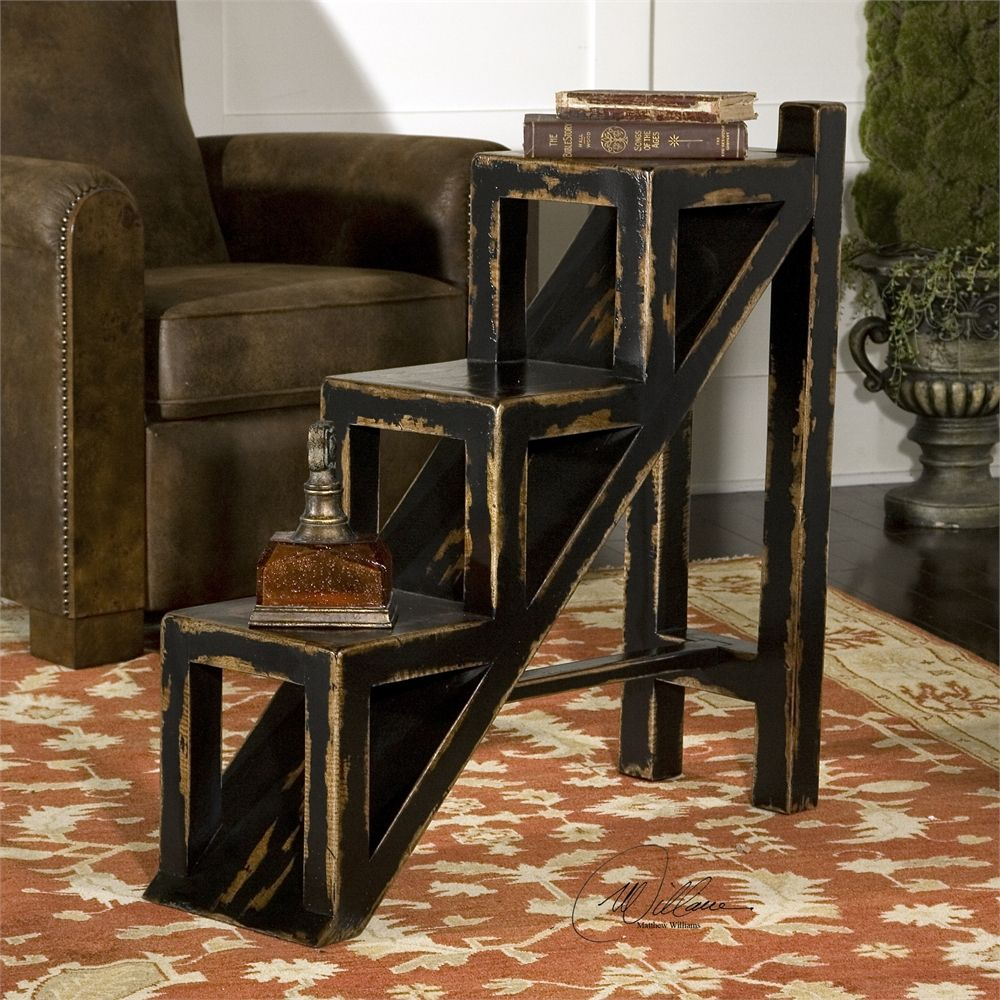 uttermost asher black stepped accent table our house very blue ashley furniture piece set wine rack cabinet insert inch round tablecloth outdoor grill target gold drum cool retro
