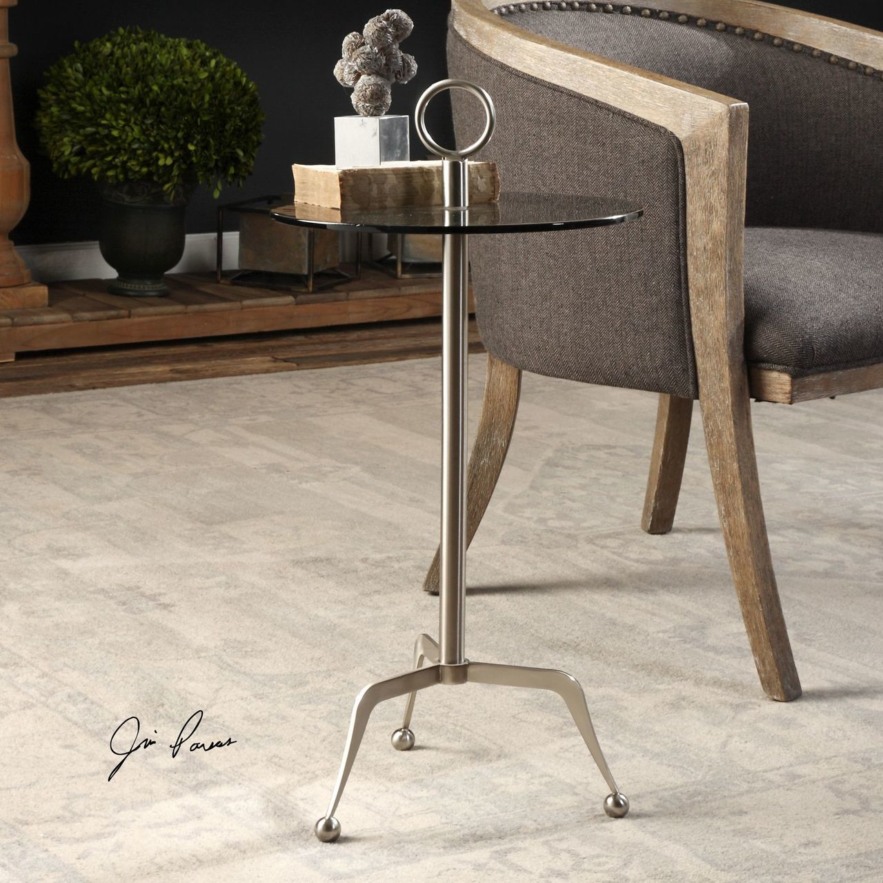 uttermost astro stainless steel accent table rug fashion jinan small kitchen with storage best placemats for wood bistro tablecloth round patio umbrella hole square acrylic coffee