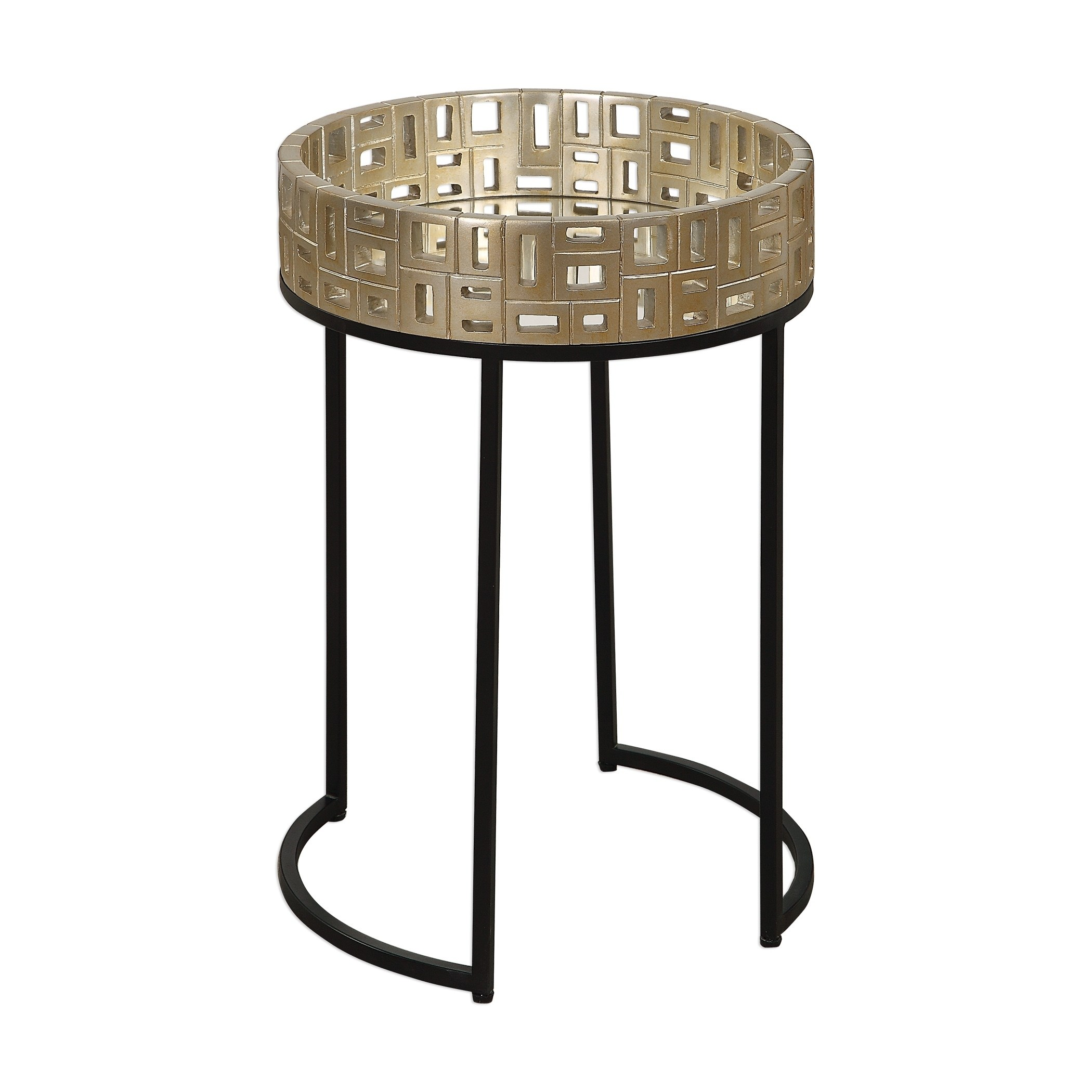 uttermost aven aged black and champagne gold accent table mcm side umbrellas that provide shade simple quilted runner patterns thin behind couch counter height console marble top
