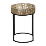 uttermost aven black and gold accent table bellacor hover zoom coffee tables wooden home decor patio with ice bucket ikea garage storage cast aluminum set end for small spaces 150x150