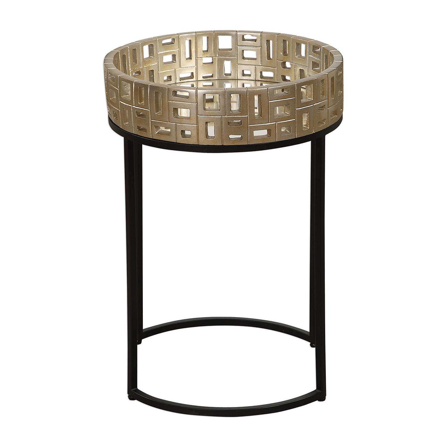 uttermost aven black and gold accent table bellacor hover zoom coffee tables wooden home decor patio with ice bucket ikea garage storage cast aluminum set end for small spaces