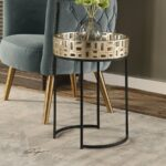 uttermost aven gold accent table metallic champagne black and aged entrance wall winsome wood dresser marble iron outdoor coffee with umbrella hole cabinets glass doors outside 150x150