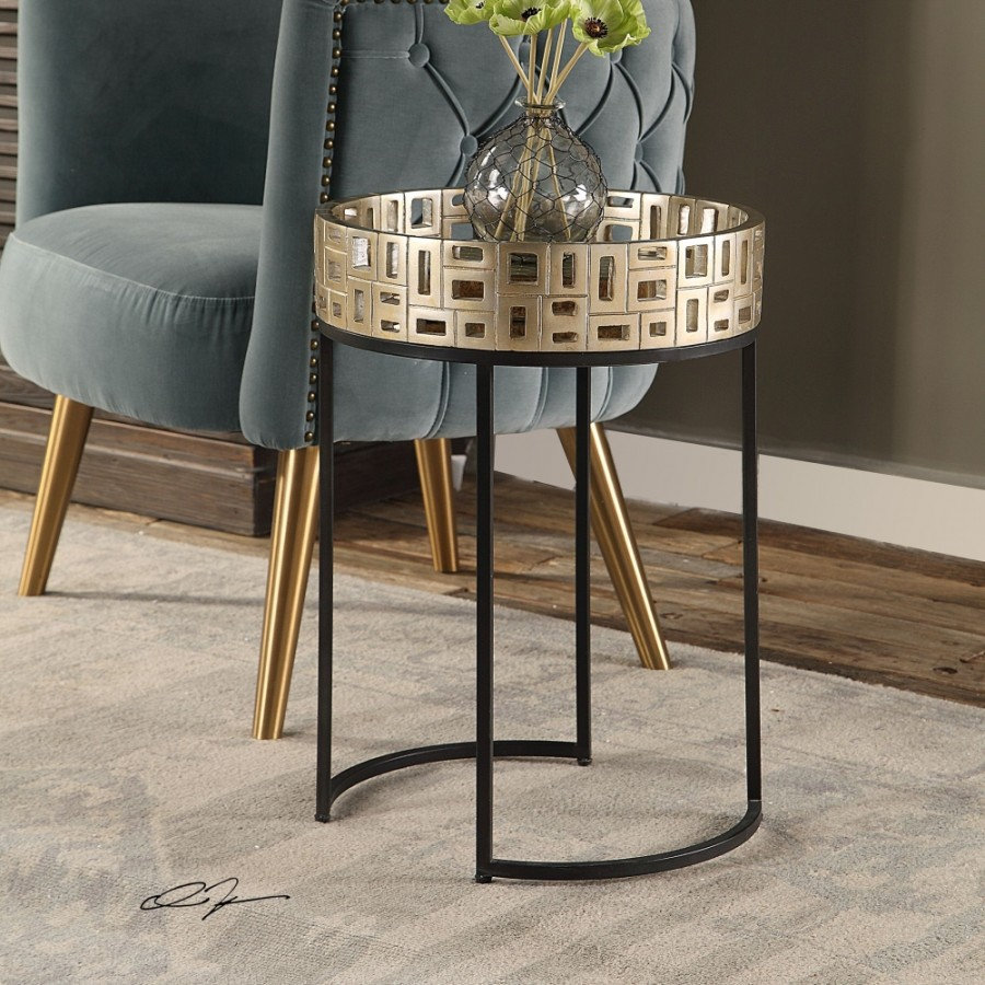 uttermost aven gold accent table metallic champagne black and aged entrance wall winsome wood dresser marble iron outdoor coffee with umbrella hole cabinets glass doors outside