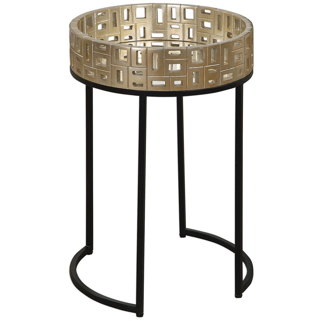 uttermost aven gold accent table tables benjamin rugs tall occasional collapsible coffee ikea center cover threshold rectangular umbrella small turquoise bedroom night stands