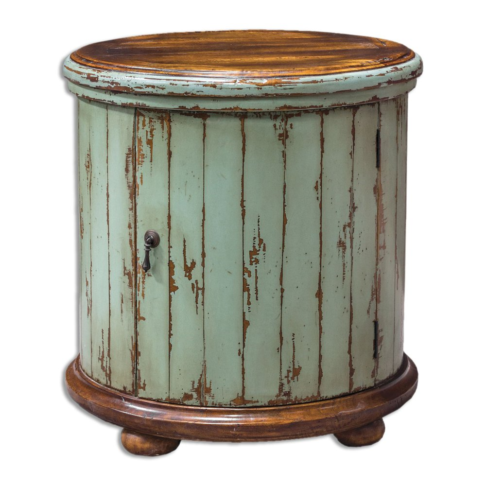 uttermost axelle wooden drum accent table atg silver pottery barn frog target furniture round coffee cover small pedestal end wicker sofa tall nightstand huge wall clock side
