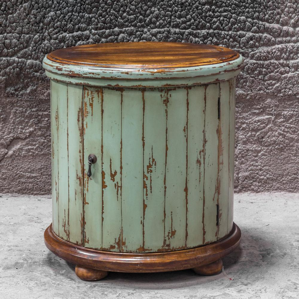 uttermost axelle wooden drum accent table the lighting wood cloth decoration reclaimed kitchen oval placemats round tables oak extendable outdoor dining mirrored nightstand home