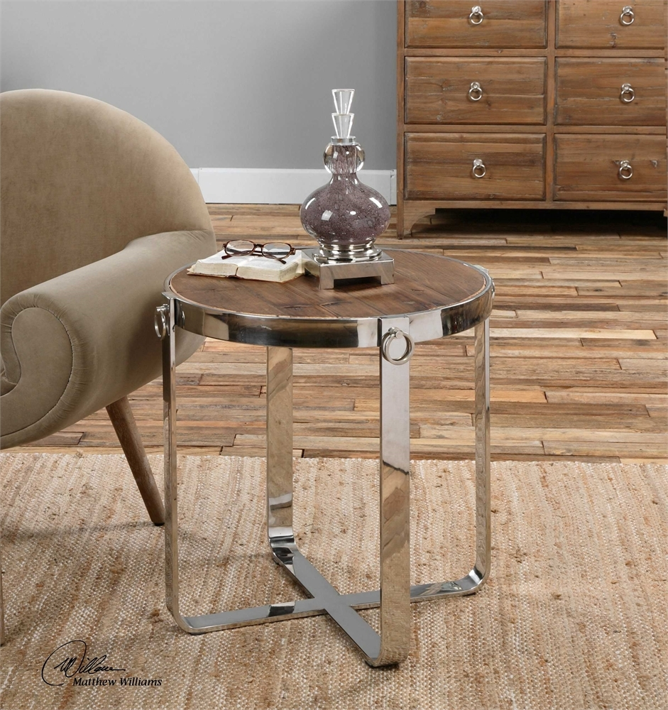uttermost berdine wooden side table mybarnwoodframes apipunwst blythe accent silver metal console globe lighting octagon narrow cabinet low coffee living room decor set free fall