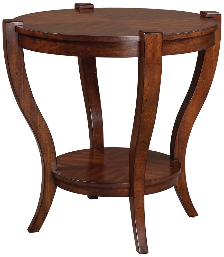 uttermost bergman end table cherry veneer round accent kitchen dining laton mirrored broyhill side with usb glass and iron ikea desk grey white coffee antique furniture small