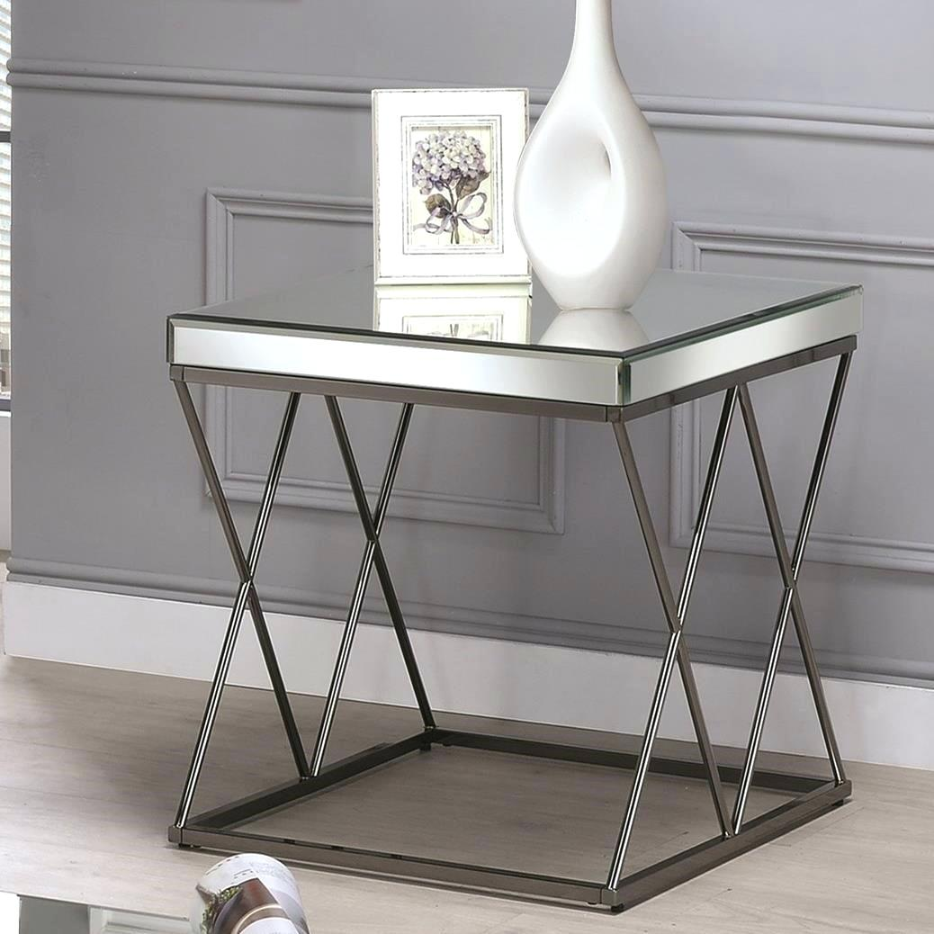 uttermost burnished antique gold mirrored end table tables target coaster contemporary with metal legs bedside trestle accent elegant outdoor patio clearance dining linens