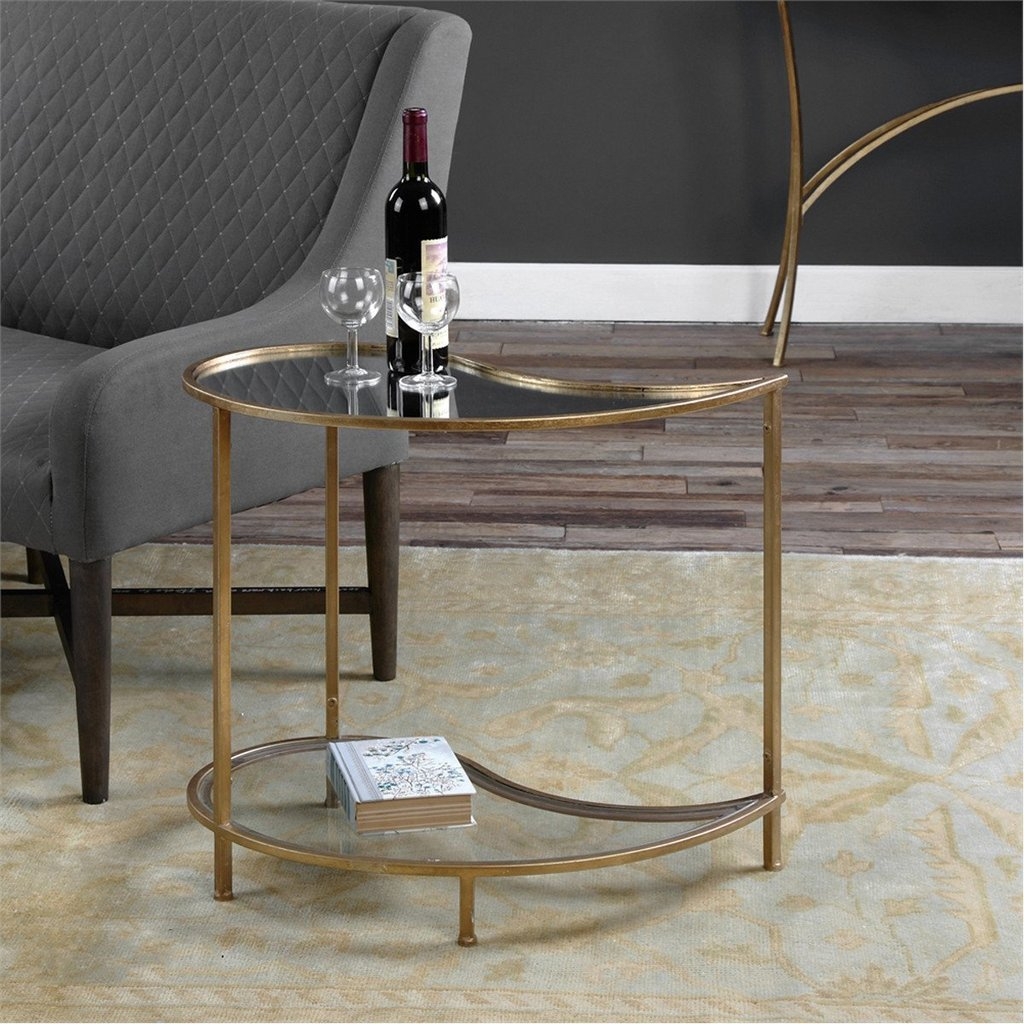 uttermost darcie antiqued gold leaf accent tables contemporary table bunching side pottery barn rain drum outdoor cooler wall clock faux leather dining chairs drop bbq prep cart