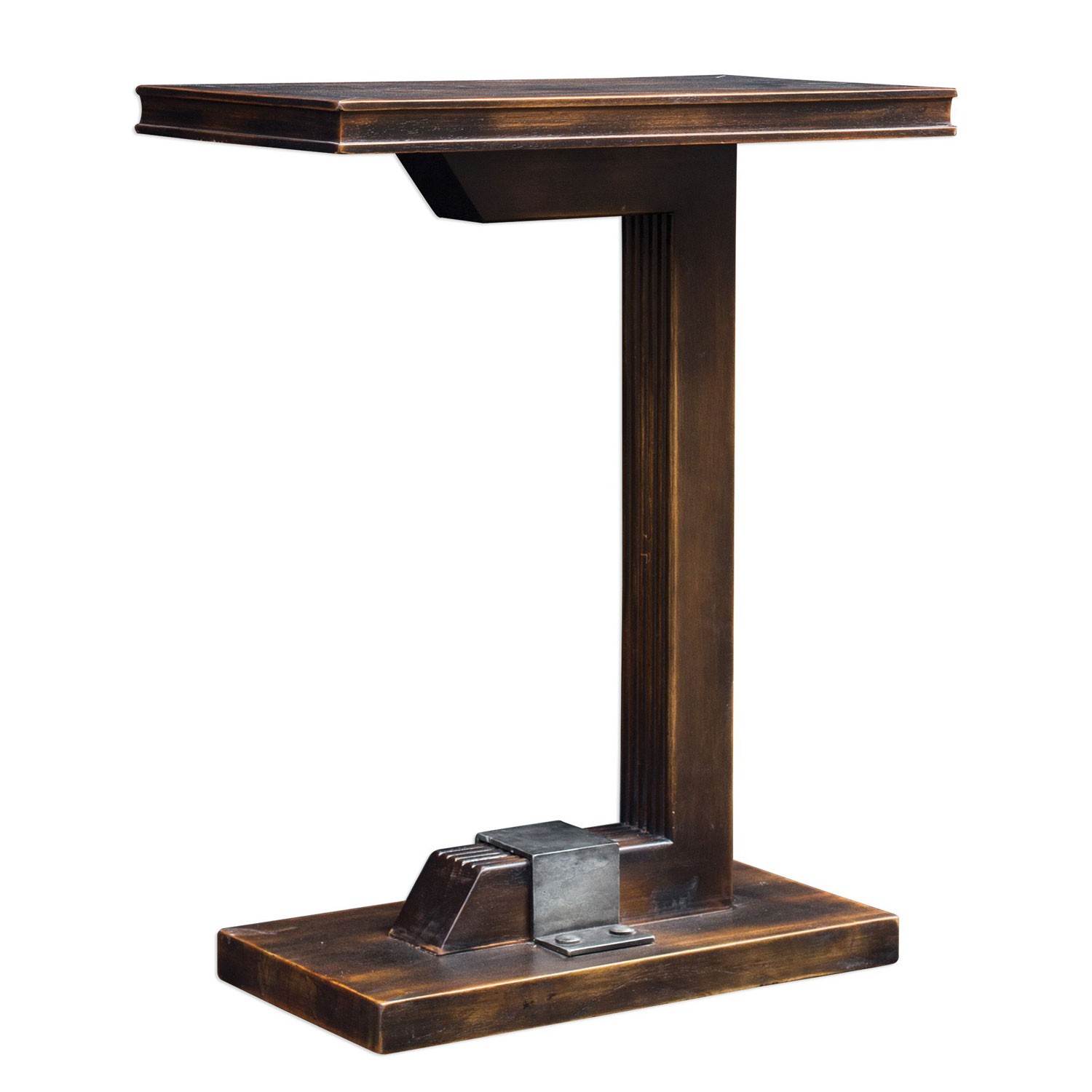 uttermost deacon industrial accent table bellacor hover zoom concrete side crystal bedside lights outdoor seating couch ikea college dorm ping lucite pottery barn and chairs for