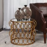 uttermost dipali gold accent table rug fashion montrez grey glass bedside childrens and chairs target modern nest tables bbq grill willow furniture inexpensive house decor inch 150x150