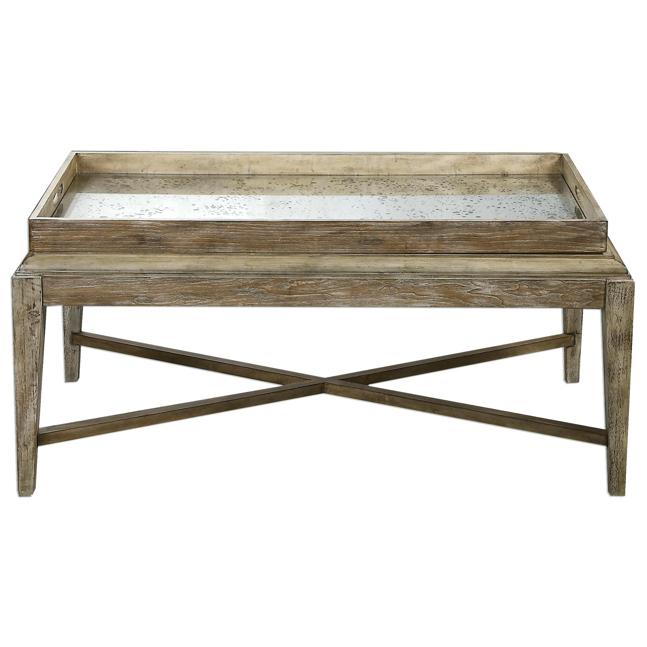 uttermost driftwood coffee table accent furniture wooden tables for large sectionals warm dining set square plans acrylic waterfall console tall patio chairs three piece indoor