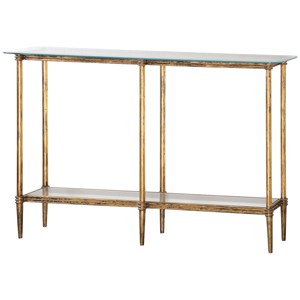 uttermost elenio glass console table gold accent kitchen dining tablecloth sliding barn door for room bohemian coffee square legs retro couch small metal end tennis circular patio