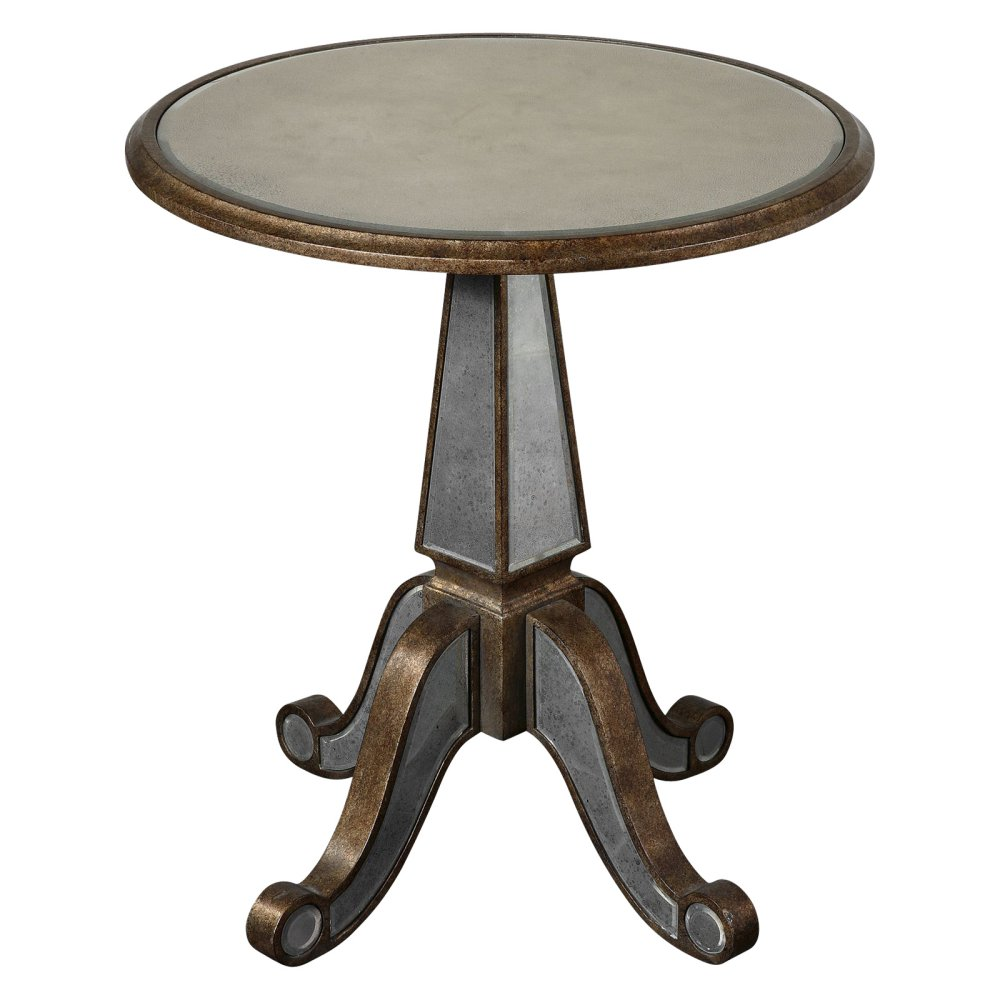 uttermost eraman accent table gold master montrez round chair and half grey glass bedside bbq grill ceramic patio side ashley rocker recliner pottery barn reading lamp inch fitted