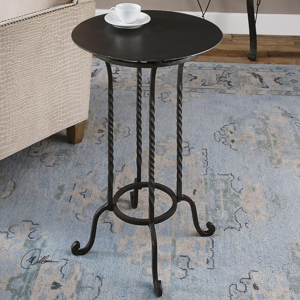uttermost gaula accent table tables fowhand furniture kitchen green marble round with drawers stone coffee gold knobs gray and white tablecloth cherry storage wall mounted drop