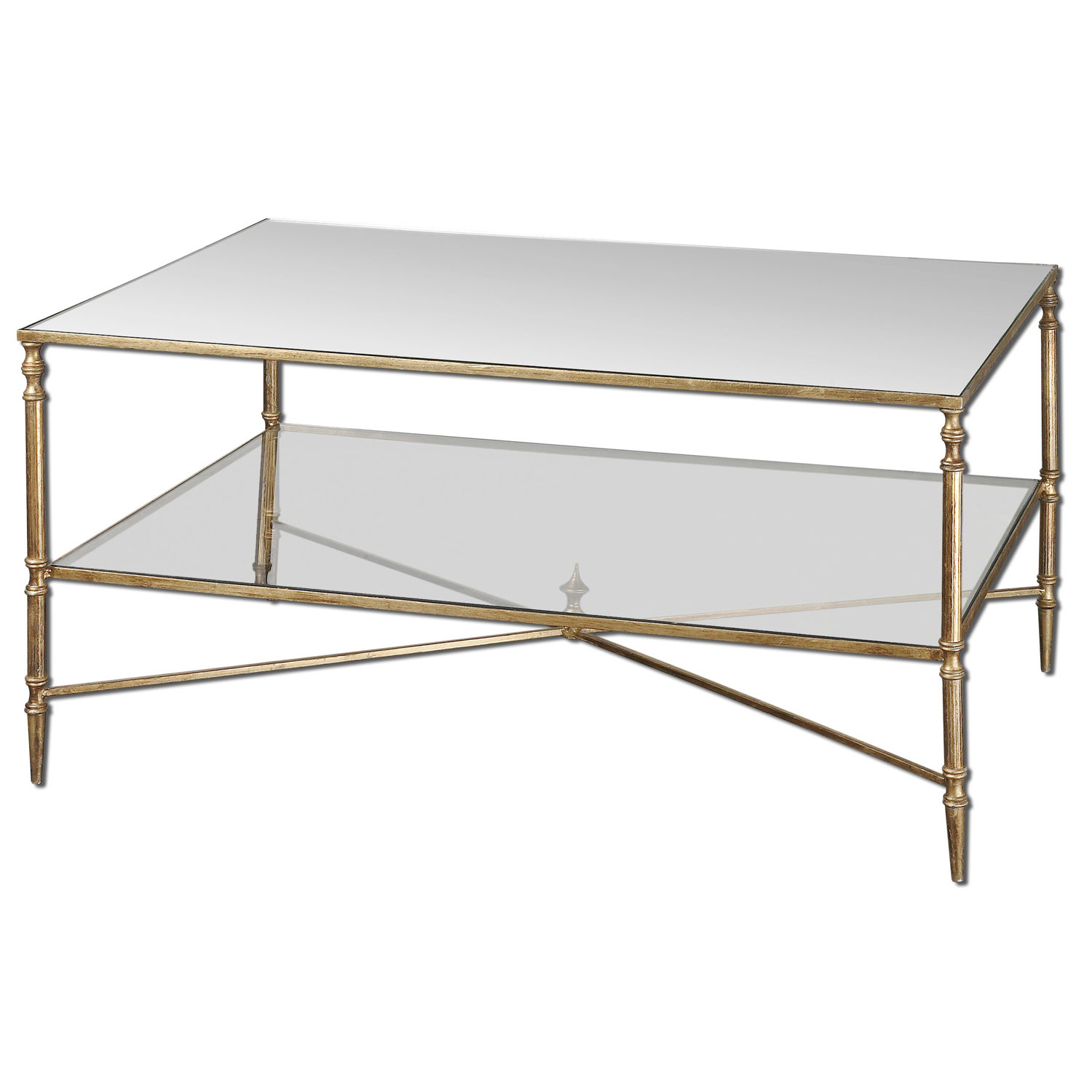 uttermost gold henzler coffee table bellacor round accent hover zoom modern mirrored wicker chair mission style lighting granite console ikea living room ideas west elm free