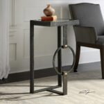 uttermost hagen textured burnished steel accent table free rubati shipping today small nest tables ikea inch tablecloth west elm round coffee tiffany shades market umbrella stand 150x150