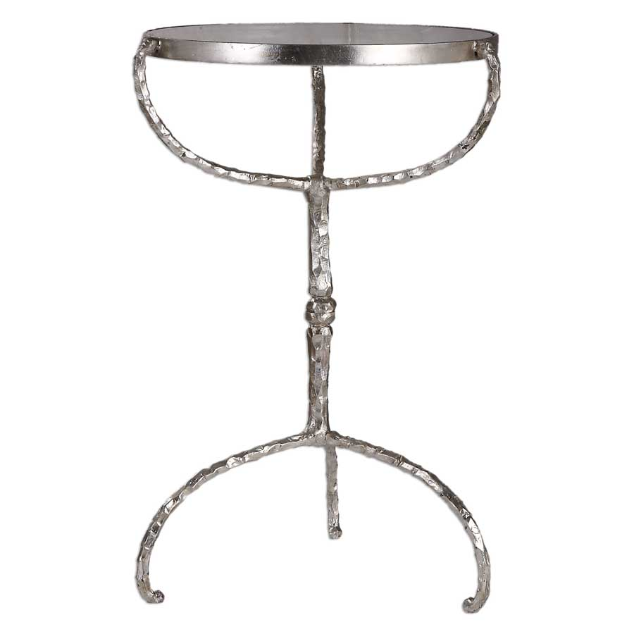 uttermost halcion hammered cast iron round glass top accent table furniture pottery barn kids registry outdoor lounge chairs foyer console antique lamps pier one clearance small