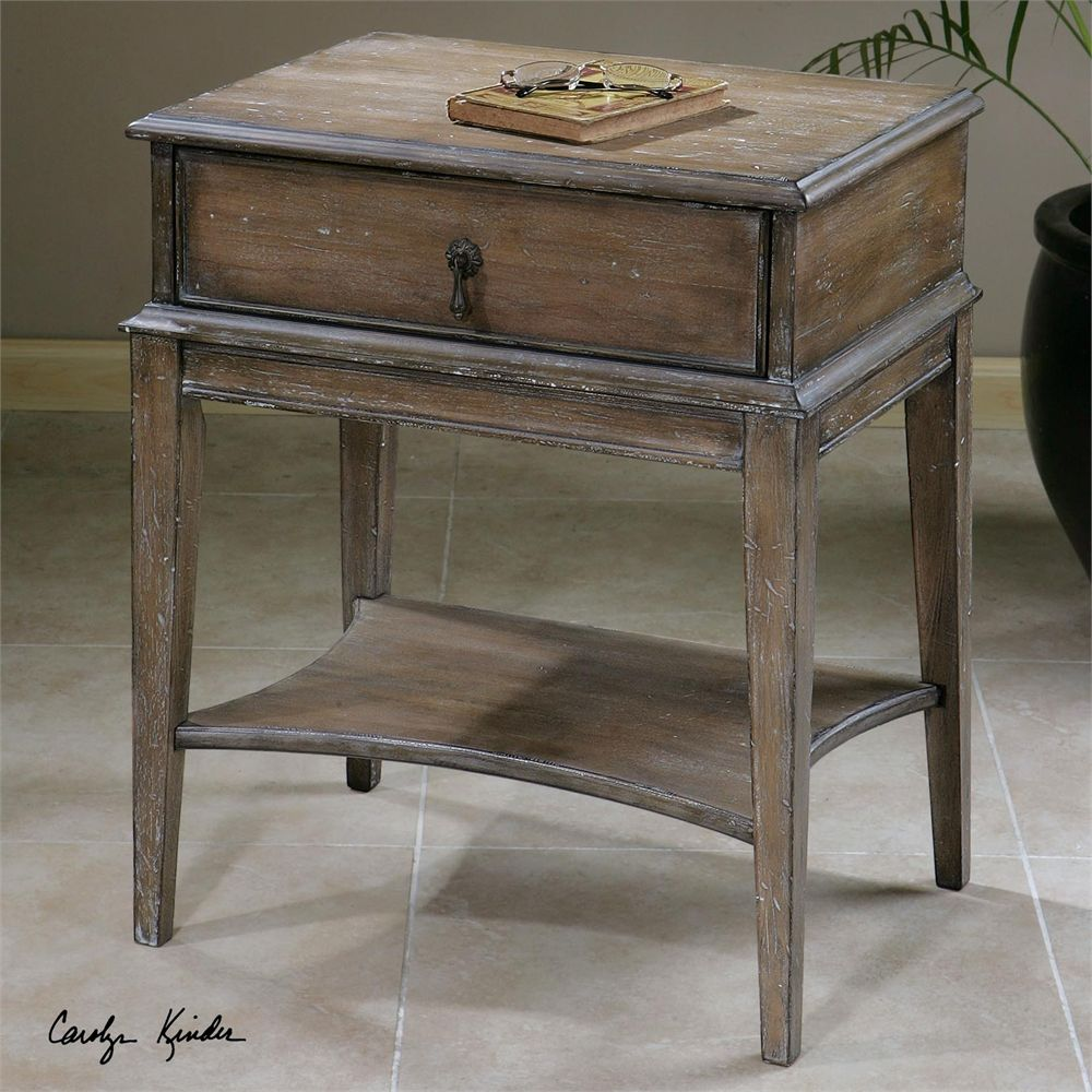 uttermost hanford weathered accent table kpda hill jinan tall storage cabinet best placemats for wood small marble bistro console chest pier one patio furniture very large lamps