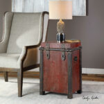 uttermost isaac wine red accent table hall chests and cabinets glass kitchen marble desk living room set large cream wall clock target threshold side small grey console half moon 150x150