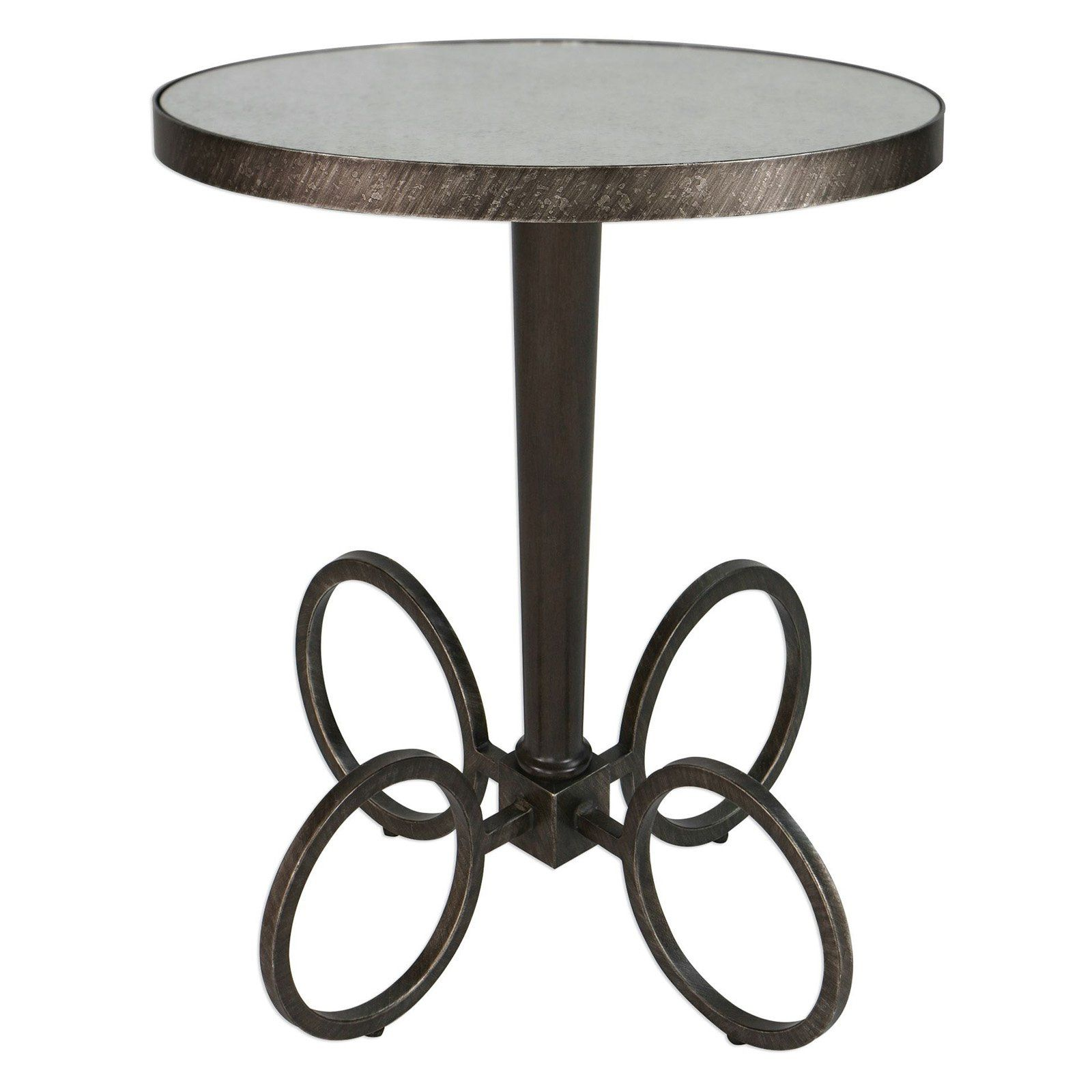 uttermost jalen industrial accent table interior design round from mirror wicker chair french chairs orient lighting entry console beverage cooler side the brick coffee tables