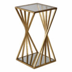 uttermost janina gold dimensional accent table bellacor laton mirrored hover zoom silver trunk coffee entryway metal hairpin legs small glass lamp antique side occasional tables 150x150