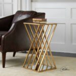 uttermost janina gold dimensional accent table rug fashion montrez west elm stools hobby lobby furniture ceramic patio side small mirrored desk drum rack home ornaments 150x150