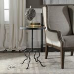 uttermost janine aged black and silver leaf accent table free shipping today west elm carved wood coffee outdoor garden furniture small low ikea cube storage grey lamp set nesting 150x150